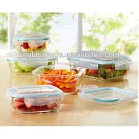 Food save fresh glass container set