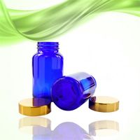 blue customized glass bottles for pharmaceutical