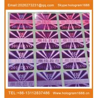 hollowing numbers security sticker