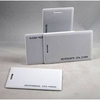 White PVC RFID card with TK4100 chip,with UID printed