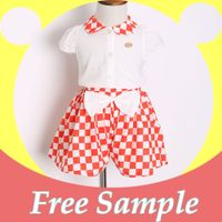 New kids clothing 2 pieces pj set baby girl summer set 662M042