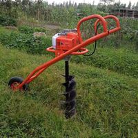 One man portable earth auger drilling machine 63cc thumbnail image