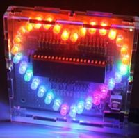 Sweet Heart shaped LED flash light DIY electronics kit