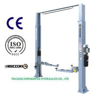 Manual Lock Release Clear Floor Inner Extension Two Post Car Lift with Ce ISO thumbnail image