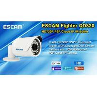 ESCAM H.264 ONVif HD 720P CMOS P2P Cloud IR 3.6mm Lens bullet Dual Stream waterproof security ip cam