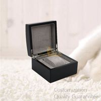 Good Quality Luxury Matte Black Archered Lid Wooden Watch Gift Box with 1 Slot
