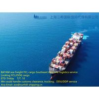 Shanghai to Batam FCL sea freight Indonesia logistic service