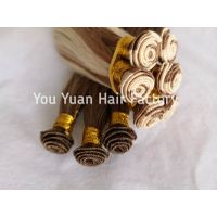 Premium remy Hair Weft Hand Tied Weft Extensions