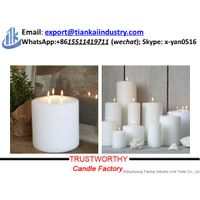 pillar candle factory 3 wick candles wholesale thumbnail image