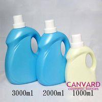 Empty laundry detergent bottles, clothes washing detergent bottle, detergent bottles