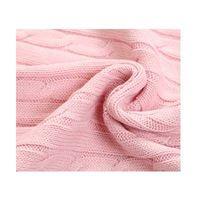 wholesale cable knit cashmere blanket