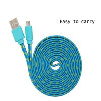 Colorful Flat Braided Micro USB Cable on sales