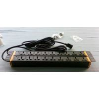 "1U 19"" Universal type PDU 9 outlet with power light"