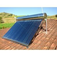 Vacuum Tube Solar Energy Water Heater System Solar Hot Water Storage Tank Collector (Non pressurized