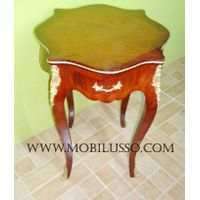 Louis xv round side table with bronze