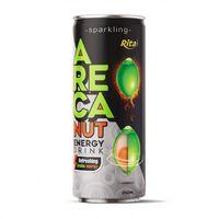 Sparkling Areca Nut Energy Drink Refreshing Awake Energy 250ml Slim Cans (RITA beverage) thumbnail image