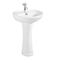 Bathroom Sanitary Ware Ceramic Hand Wash Basin With Pedestal