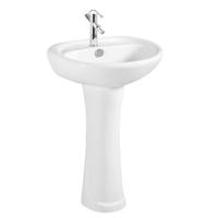 Bathroom Sanitary Ware Ceramic Hand Wash Basin With Pedestal