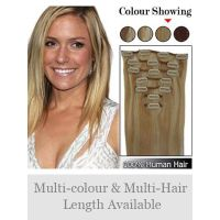 Remy Human Hair straight Clip In hair extension Full Head Set