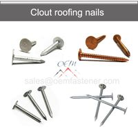 Large flat head Clout Roofing nails