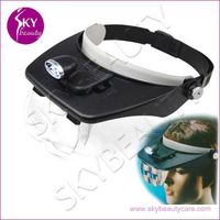 Head Magnifying Lamp For Beauty Salon, 2 LED Magnifier Glass thumbnail image