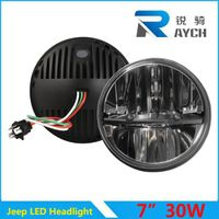 "Latest design 7"" Round 12V 24V 30W high low beam Motorcycle Jeep Wrangler"