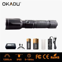 OKADU ZU03 1200Lm USB Torch Cree U2 LED USB Flashlight 3 AAA/1x18650 Rechargeable LED USB Flashlight