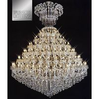 108-Light Super Size Gold Plated Entrance Chandelier