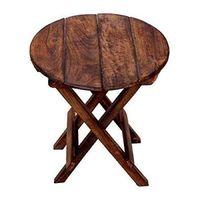 Multipurpose Wooden Folding Table - Round