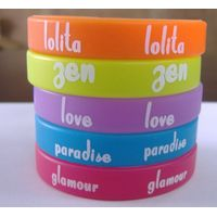 printed fashion silicone bracelet with custom logo