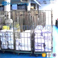 4 sides china metal high quality supermarket transportation galvanized foldable roll container