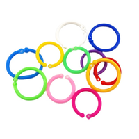 Colorful open rings jewelry accessories plastic binding book ring O ring thumbnail image