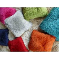 Tufted Polyester Long Pile Shaggy Pillow and Cushion
