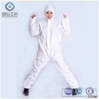 PP/SMS/PP+PE  Disposable Safety Microporous Coverall