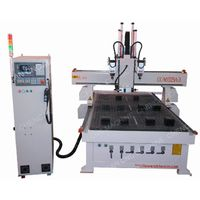 THREE SPINDLES TOOL CHANGING WOOD DOOR  MAKING CNC ROUTER WITH ROTATING HEAD