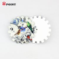Gear design competitive award craft wooden clock