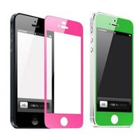 Electro plating colorful tempered glass screen protect film guard front+back for iPhone 6/6s plus