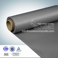 0.44mm silicone coated fiberglass fabrics for engineer thermal insulation covers thumbnail image