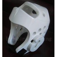 Foam taekwondo headgear in martial arts equipment