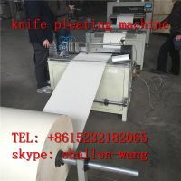 PLC automatic knife pleating production line with preslitting marking