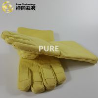 High flexibility anti-cutting 500 degrees kevlar safety gloves on industry ovens