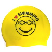 Customized logo waterproof Adult flat silicone swimming cap thumbnail image