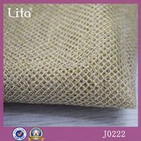 Lita J0222 Gold thread fashion apparel polyester netting fabric