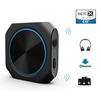 Bluetooth 4.1 Transmitter and Receiver Aptx Low latency Wireless Audio Adapter with 3.5mm Stereo thumbnail image