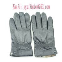 leather glove fur glove