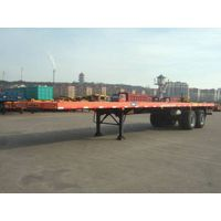 2 axle flatbed trailer