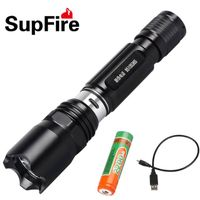 Camp led rechargeable flashlight SupFire C2 with USB charger