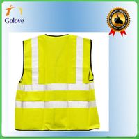 supplier make polyester safety reflective traffic warning vest