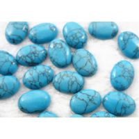 Semi gemstone artificial turquoise of the egg shape of the egg Cabochons shaped surface