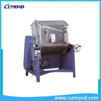 Horizontal plastic color mixer